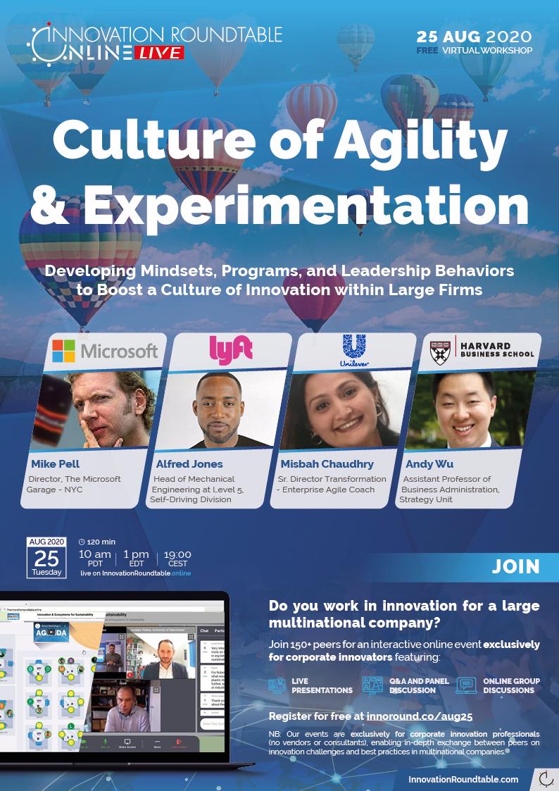 Free InnovationRoundtable.onlineLIVE Virtual Workshop • 25 August 2020